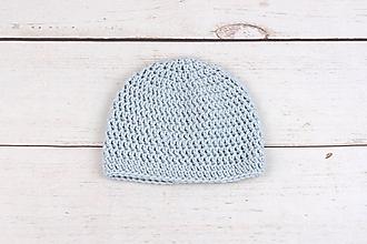 Detské čiapky - Bledomodrá čiapka EXTRA FINE - 10383226_