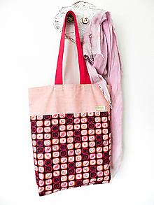 Nákupné tašky - taška floral pink - 10382874_