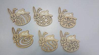 Polotovary - Veľkonočný drevený zajačik - 10384025_
