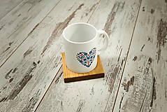 Nádoby - Hrnček s vlastným motívom + drevená podšálka - 10385023_