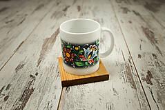 Nádoby - Hrnček s vlastným motívom + drevená podšálka - 10385024_