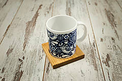 Nádoby - Hrnček s vlastným motívom + drevená podšálka - 10385033_