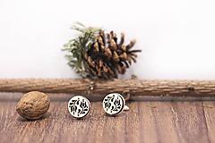 Šperky - Manžetové gombíky   Tulipánky (Béžová) - 10383393_