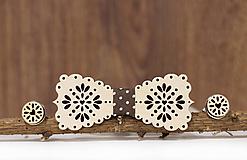 Šperky - Motýlik Medový kvet - svetlý + manžetové gombíky - 10383758_