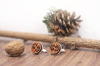 Šperky - Manžetové gombíky   Tulipánky (Hnedá) - 10383395_
