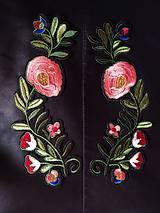 Galantéria - Nášivka - nažehľovačka kvety - 10384731_