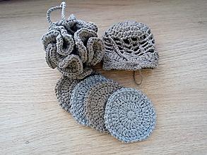 Úžitkový textil - Háčkovaný set do kúpeľne (Modrá) - 10382427_
