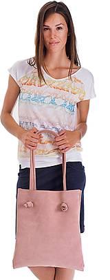 Kabelky - Kožená kabelka simplex Rosea - 10385107_