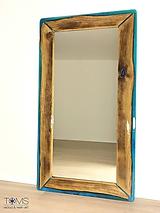 Zrkadlá - Zrkadlo s dreveno-živicovým rámom - 10382954_