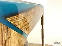 Zrkadlá - Zrkadlo s dreveno-živicovým rámom - 10382959_