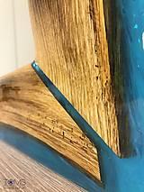 Zrkadlá - Zrkadlo s dreveno-živicovým rámom - 10382960_