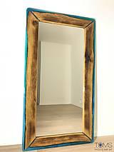 Zrkadlá - Zrkadlo s dreveno-živicovým rámom - 10382961_
