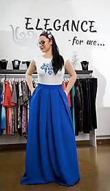 Sukne - Spoločenská sukňa - král.modrá - 10384861_