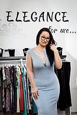 Šaty - Ligotavé spoločenské šaty - 10384970_