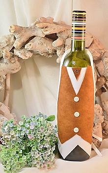 Úžitkový textil - Zásterka na fľašu - 10384076_