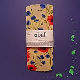 Úžitkový textil - Voskovaný obrúsok kruhový - Kvety maky - 10383029_