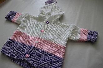 Detské oblečenie - Svetrík s kapucňou - 10383337_
