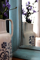 Zrkadlá - Zrkadlo v shabby chic štýle - 10384802_
