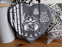 Tabuľky - Srdiečko sivé líštičky - 10384962_