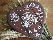 Tabuľky - Srdiečko hnedé líštičky - 10385013_
