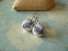 Náušnice - Náušnice Lavender - 10384313_