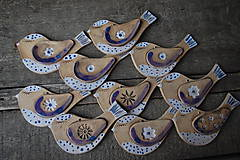 Dekorácie - Keramické vtáčiky - 10384131_