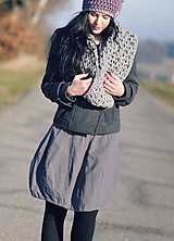 Sukne - Lněná sytě šedá - 10384217_