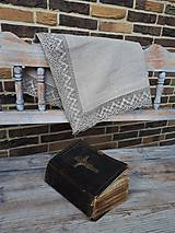 Úžitkový textil - Ľanový obrus Luxury Linen (100x60 cm) - 10384677_