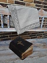Úžitkový textil - Ľanový obrus Luxury Linen - 10384678_
