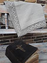 Úžitkový textil - Ľanový obrus Luxury Linen - 10384679_