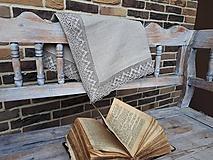 Úžitkový textil - Ľanový obrus Luxury Linen - 10384680_