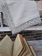 Úžitkový textil - Ľanový obrus Luxury Linen - 10384682_