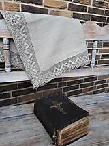 Úžitkový textil - Ľanový obrus Luxury Linen - 10384684_