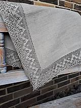 Úžitkový textil - Ľanový obrus Luxury Linen - 10384685_
