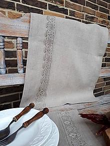 Úžitkový textil - Ľanová štóla Ordinary Life - 10384636_