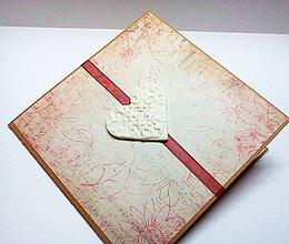 Papiernictvo - Pohľadnica ... biele srdce - 10387859_