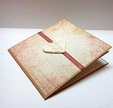Papiernictvo - Pohľadnica ... biele srdce - 10387864_