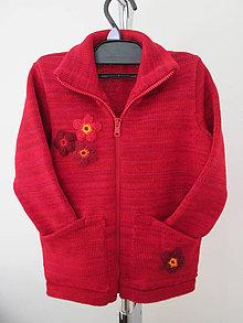 Detské oblečenie - Dětský sveter - červený - 10388417_