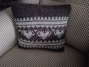Iné doplnky - Sivý pletený vankúš - 10386797_
