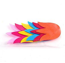 Textil - Filcová ozdoba, sada 6 ks, tulipány - 10385777_