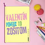 Papiernictvo - MADEBOOK - zošit A5 VALENTÍNSKY ODKAZ - 10385926_