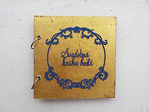 Papiernictvo - Svadobná kniha hostí - plátkové zlato - 10386158_