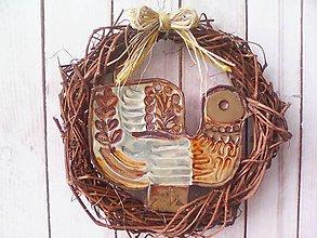 """Dekorácie - Prírodný venček na dvere """"... jarný vtáčik ..."""" - 10386989_"""
