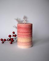 Svietidlá a sviečky - Ohnivá sviečka z palmového vosku Ø70 - 10387521_