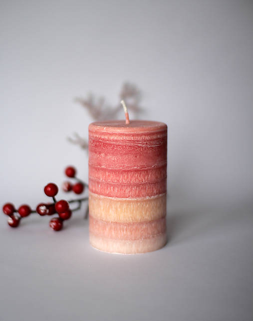 Ohnivá sviečka z palmového vosku Ø70