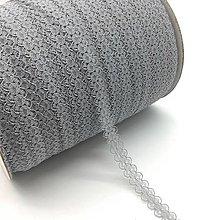 Galantéria - čipka sivá 15mm - 10387427_