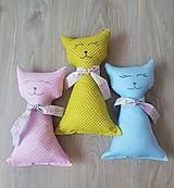 Hračky - Mačička- textilna hračka - 10385302_