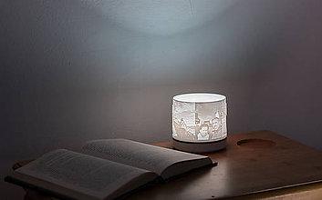 Svietidlá a sviečky - 3D foto lampa  (lampa modrým kruhom) - 10387808_
