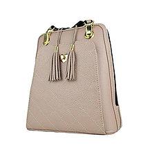 Batohy - Kožený ruksak z pravej hovädzej kože, ružová farba - 10386370_