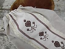 Úžitkový textil - Vrecko na pečivo FOLK - 10386390_